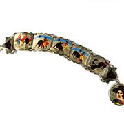 Hand Painted Bullfight Scenes Vintage Bracelet