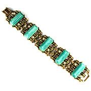 Shades of Green Amethyst Pearl Large Bracelet