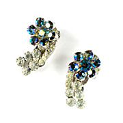DeLizza and Elster Juliana AB Crystal Rhinestone Earrings