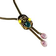 Selro Green Yellow Purple Vintage Bolo Necklace