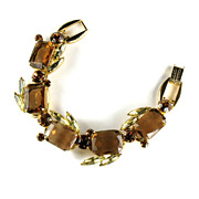 DeLizza and Elster Juliana Topaz Rhinestone Bracelet