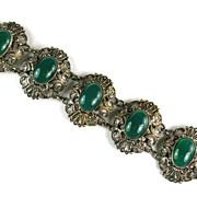 Czech Green Vintage Bracelet
