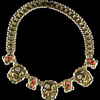 Coro Antelope Bookchain Vintage Necklace