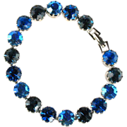 Shades of Blue Rhinestone Bracelet