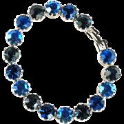Shades of Blue Rhinestone Bracelet