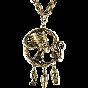 Egyptian Motif Pendant Necklace