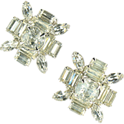 Large Crystal Rhinestone Earrings