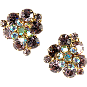 DeLizza and Elster Juliana Lavender Flower Motif Earrings