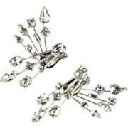 Astra Crystal Rhinestone Front and Back Earrings