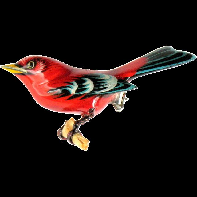 Takahashi Red Bird Pin