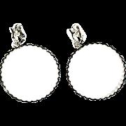 Trifari  Large Hoop Vintage Earrings