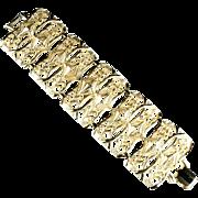 Goldtone Huge Vintage Textured Bracelet