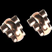 Renoir Copper Vintage Earrings