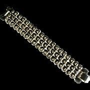 Chain Mail Goldtone Vintage Bracelet