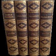 Leather Books Edward Bulwer-Lytton, Four Volumes, 1878