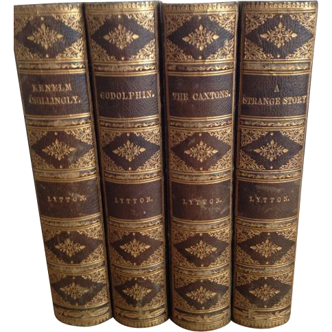 Leather Books Edward Bulwer-Lytton, Four Volumes, 1878