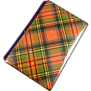 "Tartanware  Needle Case, Victorian, ""Prince Charles"""