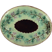 Majolica Oval Bread Tray - Red Tag Sale Item