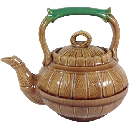 Majolica Tea Pot C.1890