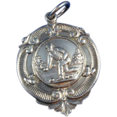 English Sterling Silver Watch Fob c. 1951