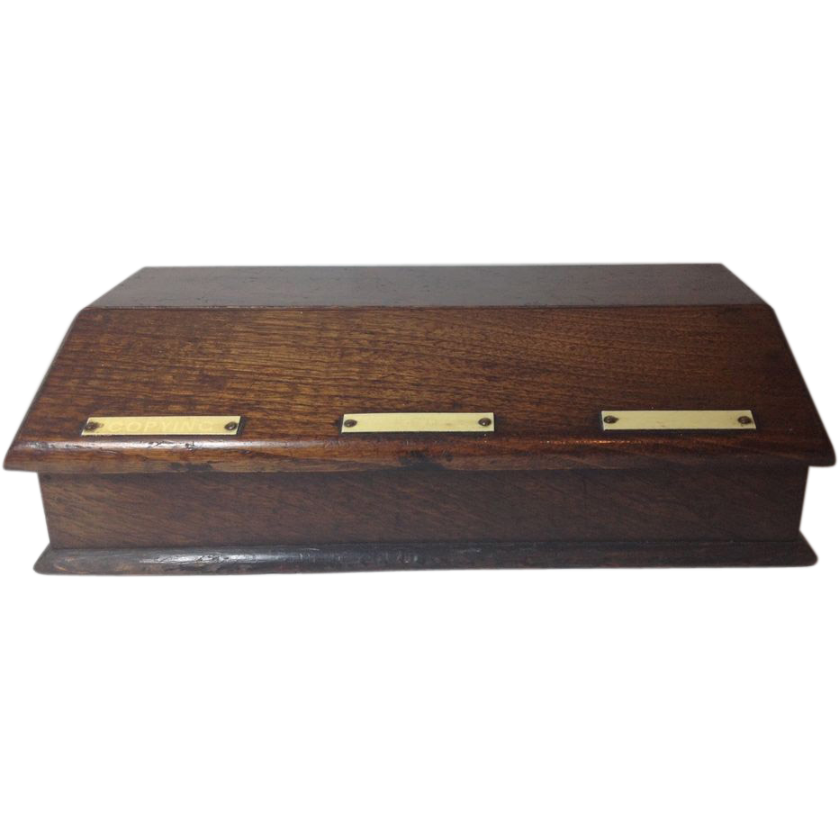 English Triple Inkwell Desk Set C.1890-1920