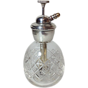 English Perfume Atomizer Bottle with Sterling Silver Top, C.1932