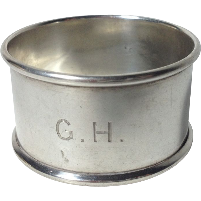 1898  English Sterling Silver Napkin Ring