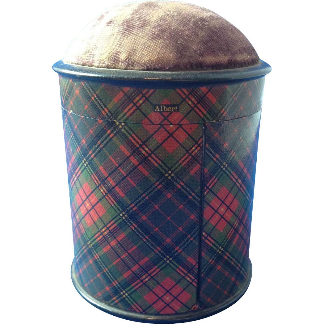 Tartan Ware Sewing Tape Holder, 1863