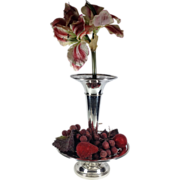 English Silver Plated Vase and Fruit Compote Set  C. 1930