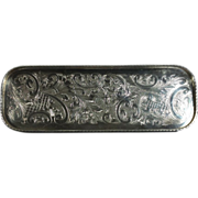 Small English Silver Plated Dresser Tray