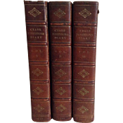 First Edition, Diary, Reminiscences & Correspondence of Henry Crab Robinson, 3 Volumes, 1869