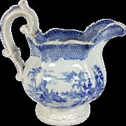 English Blue & White Staffordshire Jug C.1840
