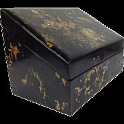 Early Victorian Papier-Mâché Stationary Box