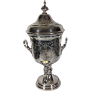 Victorian Silver Plate Engraved Samovar Urn, Shaw & Fisher, Sheffield