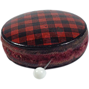 Victorian Tartan Ware 'Rob Roy' Sewing Item