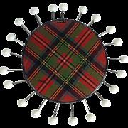 Tartan Ware 'Stuart' Sewing Pin Wheel - Red Tag Sale Item