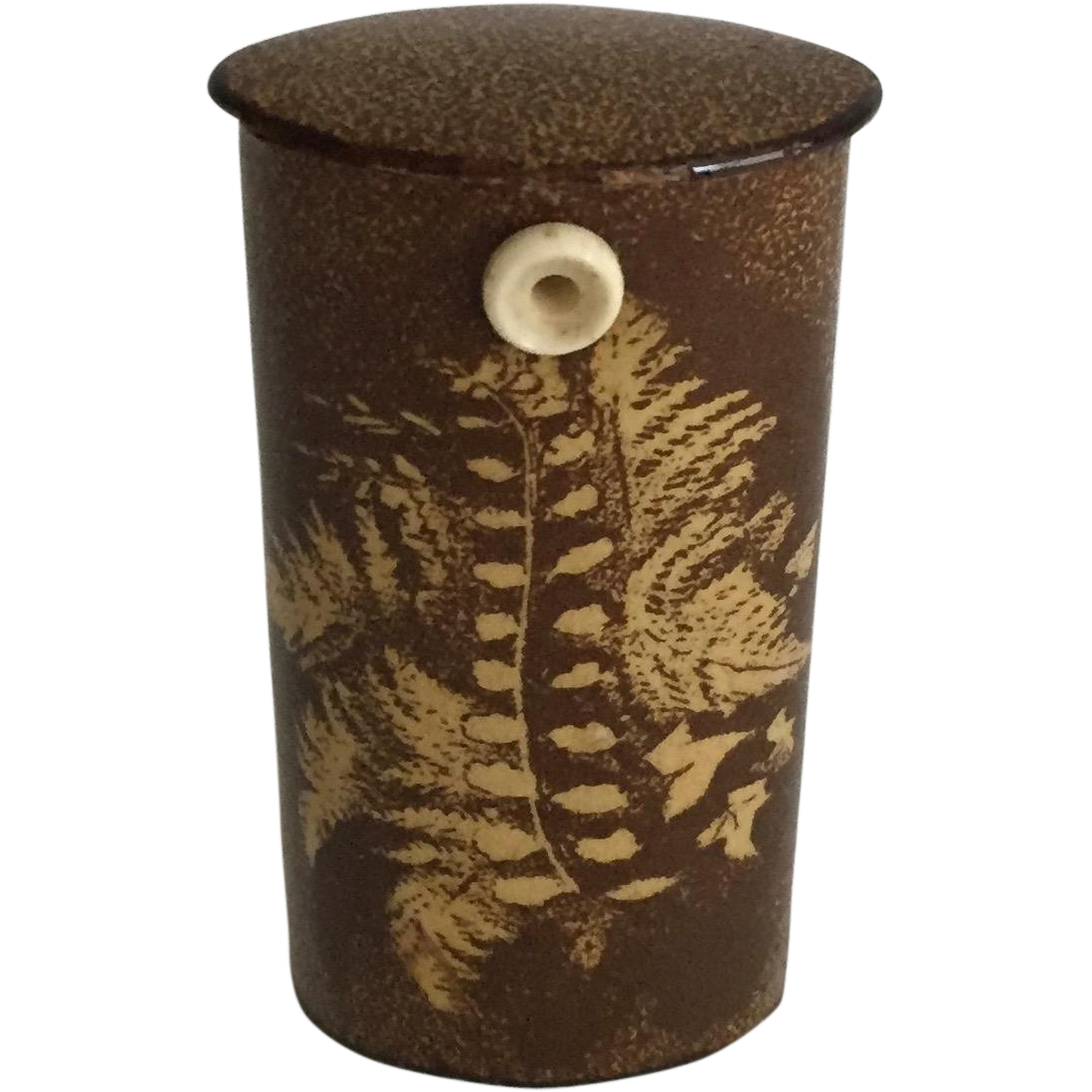 "19th Century English Fern Ware ""Go to Bed"""