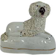 English Staffordshire Poodle Figurine C.1840-1860