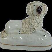 English Staffordshire Poodle Figurine C.1840-1860