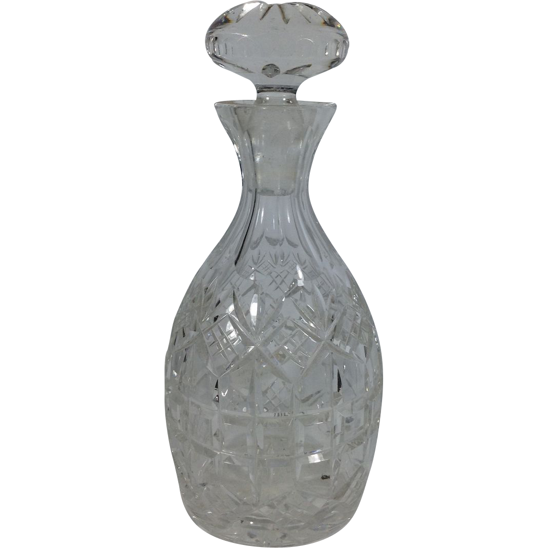Cut Glass English Decanter