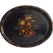 "29"" English Hand-Painted Papier Mache Tray"