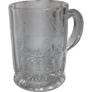 "1904 Early American  Pressed Glass ""Sweetheart"" Child's Mug"