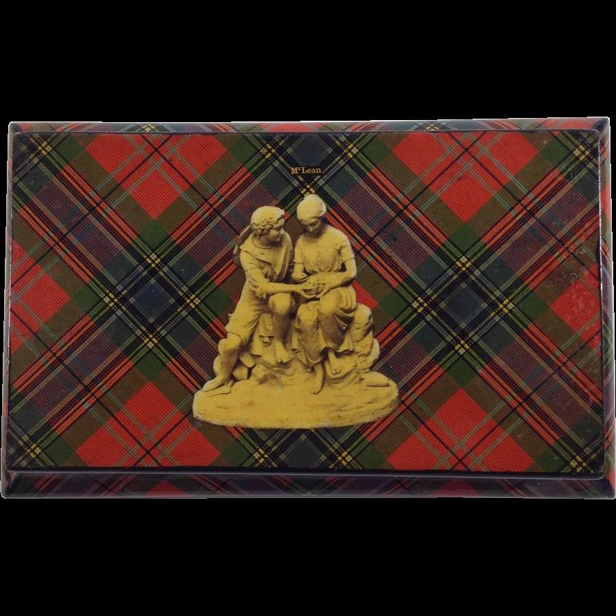 Victorian 'McLean' Tartan Ware Keeping Box