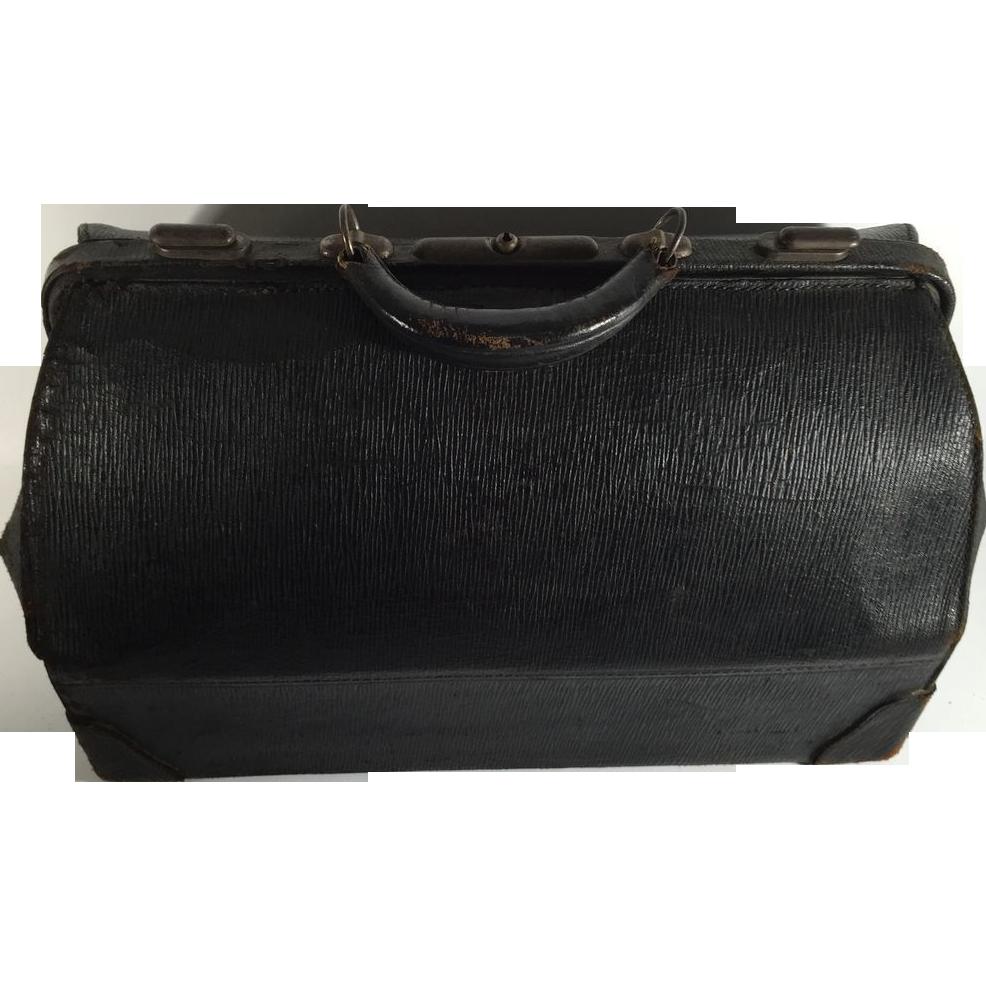 Vintage Black Leather 40
