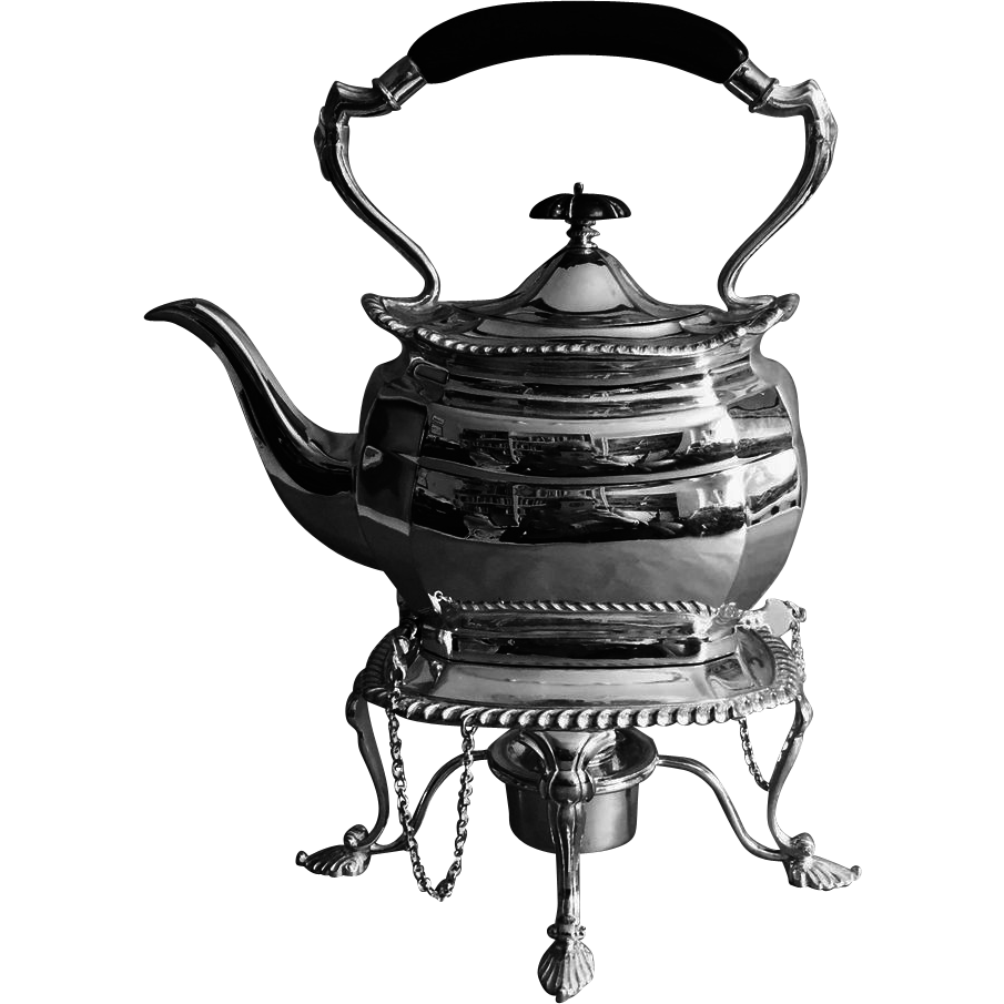 C 1908 English Silver Plated Tipping Tea Pot From