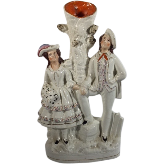 English Staffordshire Spill Vase Figurine with Pearlware Glaze