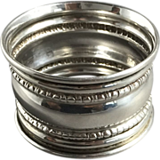 1918 English Hallmarked  Sterling Silver Napkin Ring