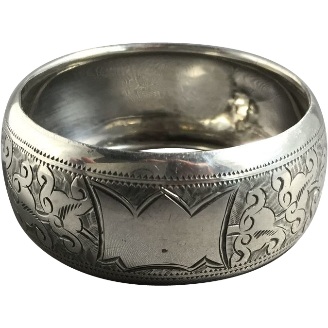 1904 English Hallmarked Sterling Silver Napkin Ring