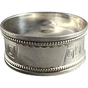 1922 English Hallmarked Sterling Silver Napkin Ring