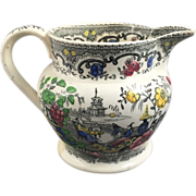 1860 English Polychrome Jug
